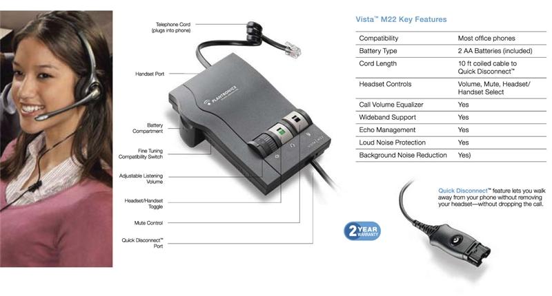 M22 Plantronics adaper